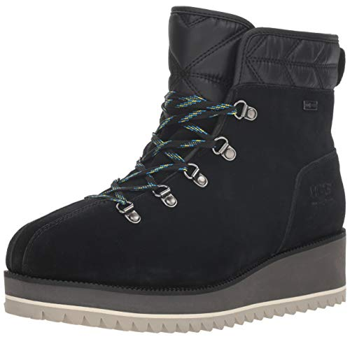 UGG Women's W BIRCH LACE-UP BOOT Snow, black, 10 M US