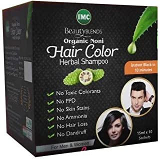 IMC Herbal (International Marketing Corporation) Beauty Blends Noni Hair Color Shampoo 15Ml - 4 Sachets