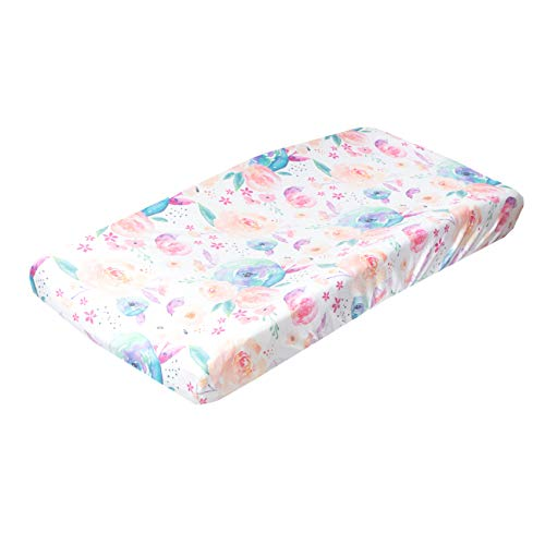 Product Image of the Premium Knit Diaper Changing Pad Cover'Bloom' by Copper Pearl
