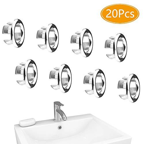 FYSL 20 Stück Universelle Waschbecken Überlauf Abdeckung Hochwertige Sinken Überlauf Ring für Badezimmer Küchen Waschbecken Ersatz