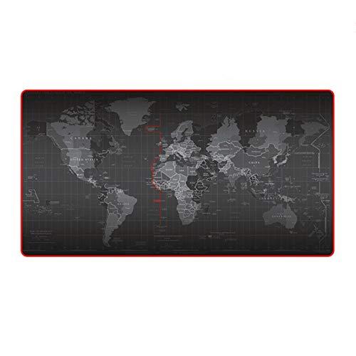 Dhsbd Mouse Pad 300 * 800 * 2 Mm 400 * 900 * 2 Mm World Map Design Keyboard Mouse Pad Anti-Skid Duurzame Muismat Toetsenbord Mat Tafelmat, 900x300mm