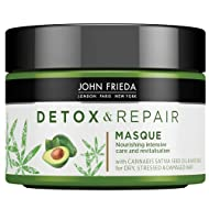 John Frieda Detox & Repair Masque for Dry, STRESSED & Damaged Hair with Avocado Oil and Green Tea, 2...