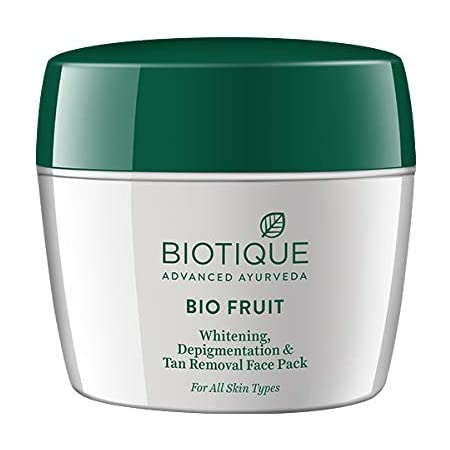 Biotique Bio Fruit Whitening and Depigmentation and Tan Removal Face Pack, 235g