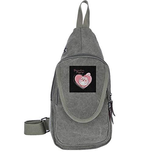 AHISHNF Monster of The Pocket Love Happiny Reise-Brusttasche für Herren und Damen, Mehrzweck, lässiger Tagesrucksack, Wandern, Schultertasche