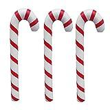 Toyvian 3 PZ Bastoncini Natale Bastone Gonfiabile Candy Stick Caramelle a Spirale per Decorazioni Esterna Cortile Ghirlanda Natale Ornamento Appendere