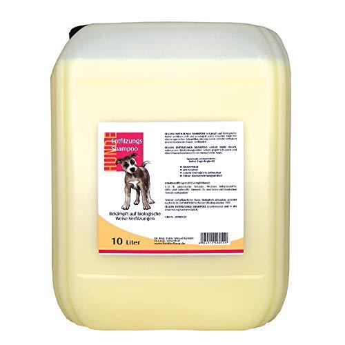 Fellon Entfilzungs Shampoo für Hunde | 10 Liter | Hundeshampoo | Biologisches Shampoo | Löst verfilzungen sanft und schonend | Milde Waschsubstanzen | Pflegend & Rückfettend | Ph-neutral