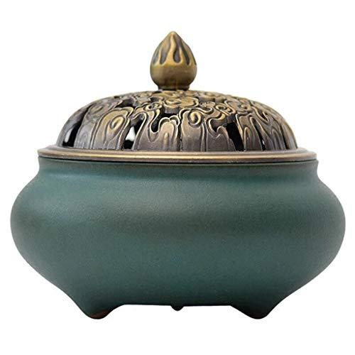 Hermosa y delicada Quemador de incienso Home Living Room Table Top decoración, cerámica varilla de...