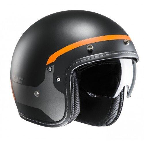 HJC Motorradhelm FG-70s Modik MC7SF, Schwarz/Orange, Größe XS