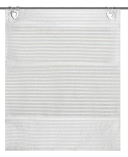 Home Fashion Jacob Magnetrollo, Stoff, wollweiß, 130 x 45 cm
