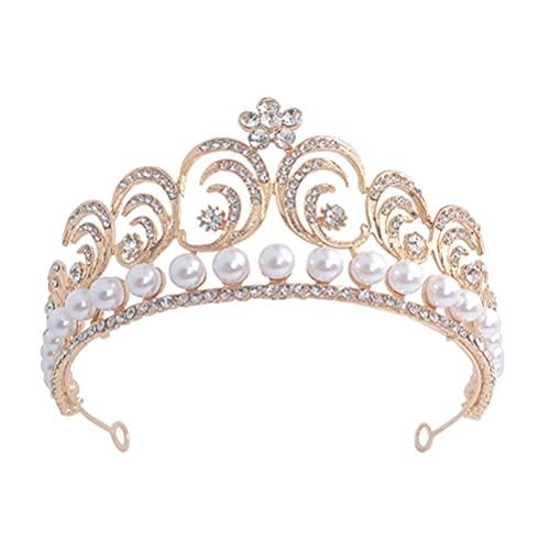 Lurrose Tiaras de boda para novia, diadema de cristal, coronas de princesa,...