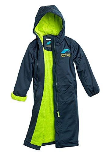 Great Aussie Swim Parkas (Swim Robe/Swim Jacket (Youth 10, Navy/Green) …