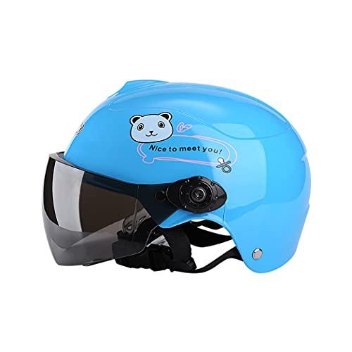 M STAR Cascos para niños, Cascos de Seguridad para niños para niños y niñas, Cascos Protectores para Bicicletas, Scooters, Motocicletas y vehículos eléctricos para niños de 2 a 8 años,Azul