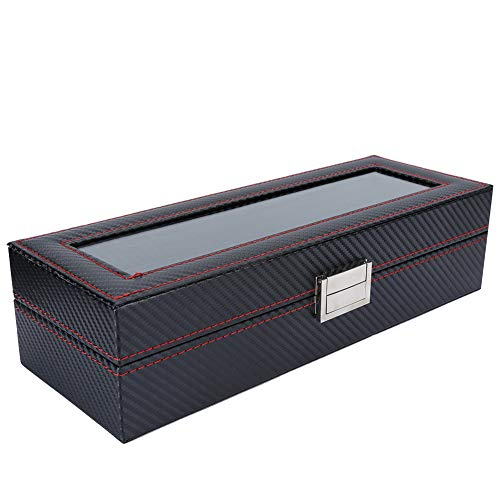 Uhrenvitrine, robuste Uhrenbox, stilvolle schwarze Armbanduhr Organizer Office für Home Jewelry Watch