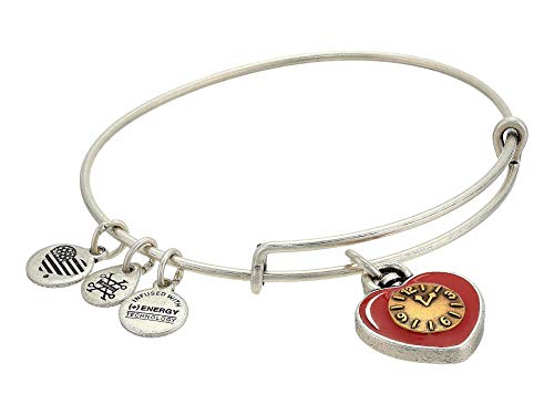 Alex and Ani Wizard of Oz, Heart Bangle Bracelet, Two-Tone Rafaelian Silver One Size