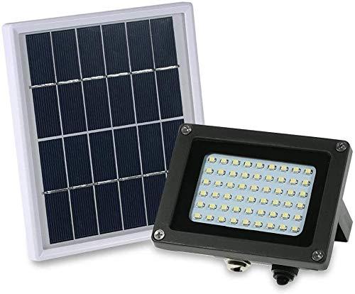 Luz de inundación LED, Smart Floodlights Proyector De Energía Solar, 54 Luces De Trabajo Solares LED IP65 Luces De Seguridad para Exteriores Impermeables para El Hogar, Jardín, Iluminación De Césped