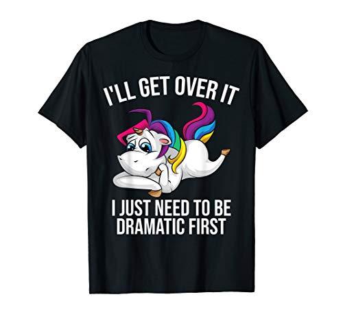 Funny Unicorn Lover Gift   Cute Drama Queen Girls Kids Women T-Shirt