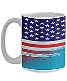 N\A USA Tuvalu Flagge polynesische weiße Kaffeetasse Teetasse