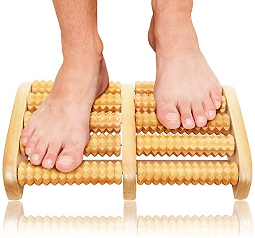 KEDY Wooden Roller Foot Massager Body Stress Buster & Accupressure Point Device Relaxation Health Care Product Foot Massager and Legs Pain Relief Massager | Set of 1 | Wooden