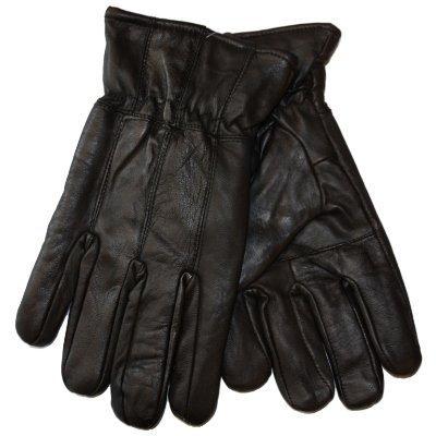 RJM Gants très Mous en Cuir Homme Chaud avec Une Doublure Polyester GL317 (Noir) L/XL