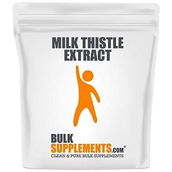 BulkSupplements.com Milk Thistle Extract Powder - Liver Support Supplement - Silymarin Milk Thistle - Milk Thistle for Dogs 250 Grams - 8.8 oz