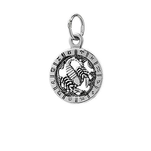 NKlaus Silber 925er Sterlingsilber Ketten Anhänger Horoskop Sternzeichen Skorpion 6324