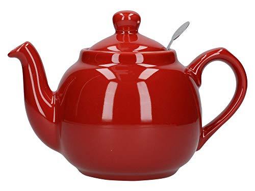 London Pottery Theiere pour 2 tasses Rouge avec filtre