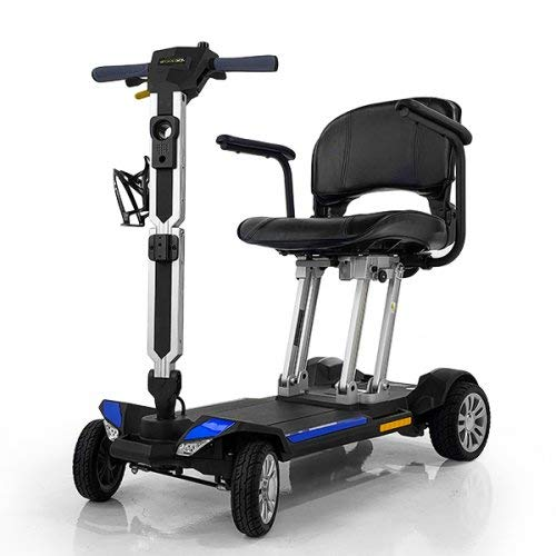 Golden Technologies Buzzaround Carry On Fold-Flat Travel Lithium Battery Mobility Scooter-BLUE