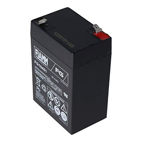 FIAMM FG10451 - Batteria al piombo 6 V 4,5 Ah Faston 4,8 AGM
