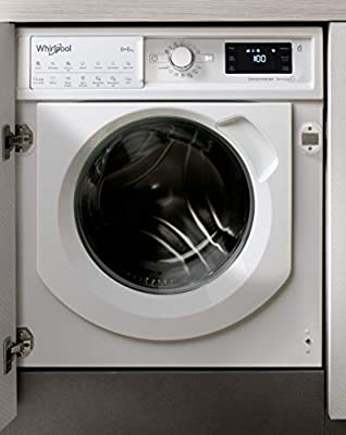 Whirlpool FreshCare BIWDWG861484UK Integrated Washer Dryer, 8/6kg, 1400rpm