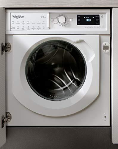 Whirlpool FreshCare BIWDWG861484UK Integrated Washer Dryer, 8/6kg, 1400rp