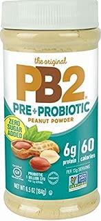 PB2 Peanut Butter Powder - No Sugar Added, Supplemented with Prebiotics + Probiotics, Gluten Free, Non-GMO [6.5 oz]