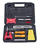 Oregon Chainsaw Chain Sharpening Kit with Hard Case - Contains Files, Handles, Depth Gauge, Stump Vise, Felling Wedge, and More Accessories