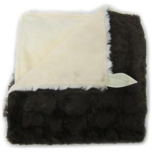 Baby Doll Bedding Sheepskin Huggable Blanky, Choc/Ivory