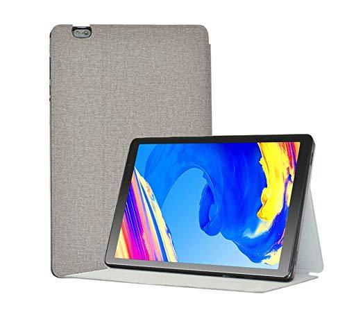 YGoal Funda para Vankyo MatrixPad S20 - Slim PU Cuero y TPU Back Case Folio Carcasa para 10 Pulgada Tablet inclu Vankyo S20, TOSCIDO P20, LNMBBS P30, FACETEL Q3 e YUNTAB D107, Gris