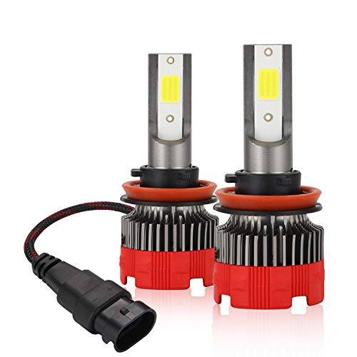 Kairiyard LED H11 Ampolle di LED a LED H8 6000K HI Beam 55W 8000 Lumens Antibrouillard H9 Kit DOB Chip Extrêmement Lumineux 2 Lampade Rotazione a 360° Bi-Xénon Conversione Tout-en-Un Garantie 2 Ans