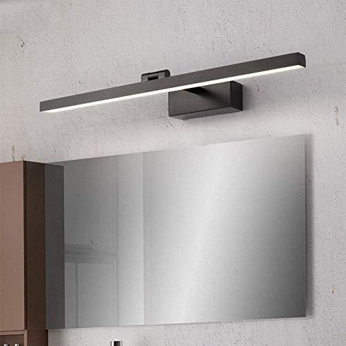 LOKKRG Luz de Espejo de baño, luz de tocador Negra, luz de Pared de baño, iluminación de tocador, luz de Pared de Maquillaje para armarios con Espejo, tocador, WarmLight-40cm