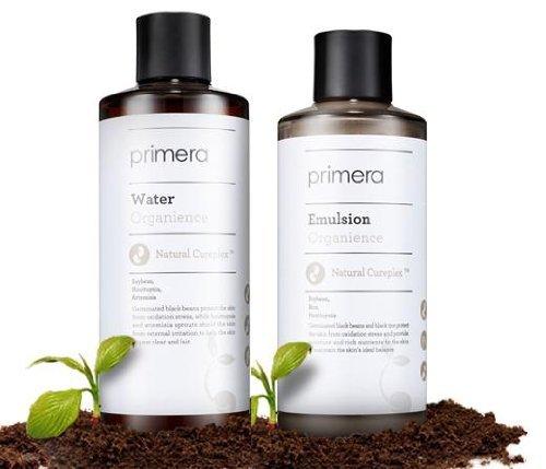 Primera Technology KOREAN COSMETICS, Organience 2-piece set (Organience WATER (Skin)180ml+Organience Emulsion 150ml) (removes skin waste, moisture antioxidant, moisturizing, Relaxes skin)[001KR]