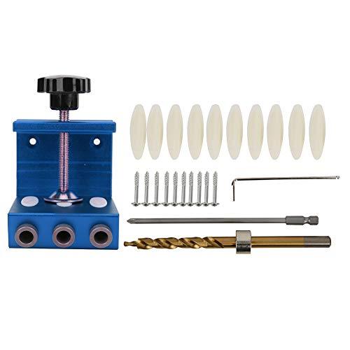 Guía de perforación de agujero de bolsillo Aleación de aluminio hogar carpintería agujero herramienta rojo/azul rojo
