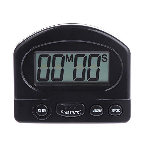 NELNISSA Digitale Timer Alarm Klok Countdown Gadgets met LCD Display (Zwart)