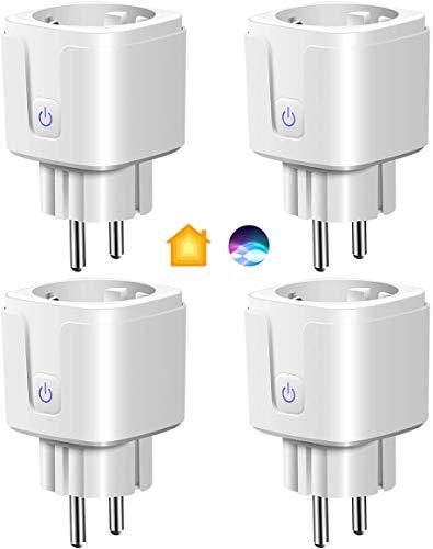 Intelligente Homekit Steckdose, Smart WLAN Steckdose Plug funktioniert mit Apple HomeKit & Siri, Fernsteuerung, Sprachsteuerung & Zeitpläne