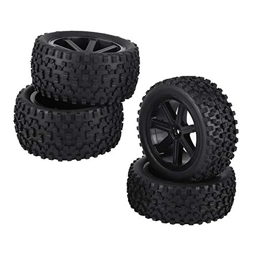 VGEBY1 4pcs RC Racing Tyre, 1/10 RC Tire Wheel Tire Rubber Tire para ZD Racing Buggy Car(Negro)