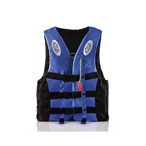 Schwimmweste, Schwimmweste für Erwachsene/Kinder mit Rettungsschwimmerpfeife, 360 ° reflektierender Streifen Verstellbarer Sicherheitsgurt Persönliches Schwimmgerät, Einfaches An- und Ausziehen
