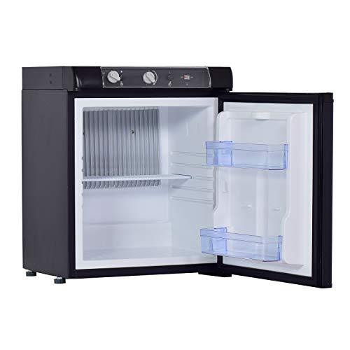 Smad Mini-Kühlschrank 3-Wege, Absorptionskühlschrank für Wohnwagen, Wohnmobile, RV, Camping, Hotel, 220V/12V/Gas (Propan), 40L, Schwarz