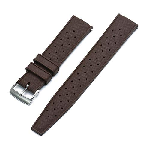 BJKKM Simplicidad con Estilo Correa de Reloj de Goma Tropical de Grado Premium 20 mm 22 mm for Banda de Reloj Buceo Pulsera Impermeable Color Negro Accesorios de Reloj