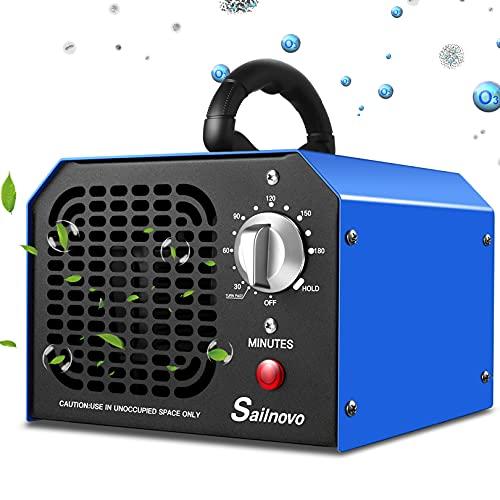Generatore di ozono 6000mg / h Purificatore d'aria professionale di ozono con timer 180 minti adatto per abitazioni, uffici, ristoranti, caffetterie, hotel e garage...