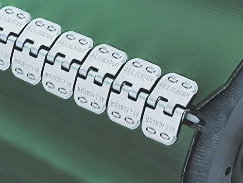 Flexco Alligator Quick Fix RS62 QF24/600NC Fördergurt Verbindungsset Klammern (Passend für Gurtstärke: 1,5 3,2 mm)