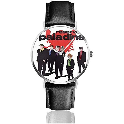 Unisex Business Casual Voltron Reservoir Hunde Paladine Uhren Quarz Leder Uhr