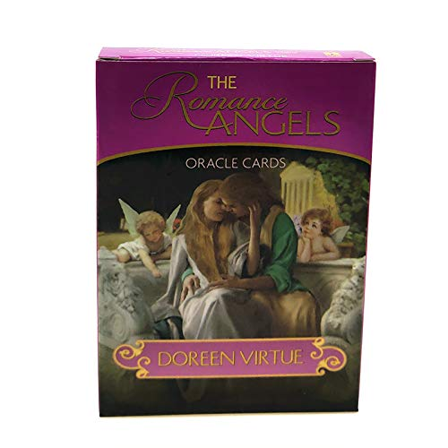 Romantischer Engel, englische Karten, Weissagungs-Tarotkarten, vergoldet, 44 Karten