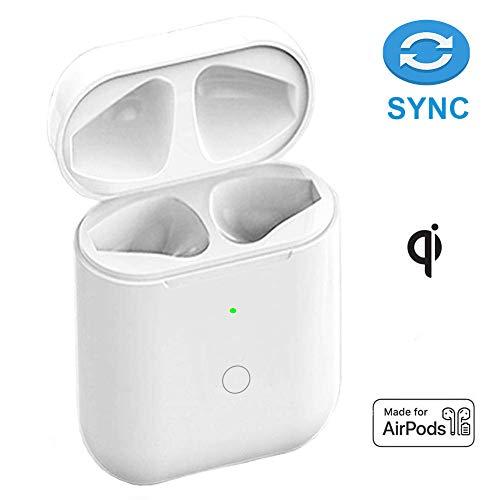 Lenture Ersatz für kabelloses Ladecase Kompatibel mit AirPods 1 & 2 Ladecase mit Bluetooth-Pairing(Airpods Nicht enthalten), Kopfhörerabdeckung mit integriertem Akku 5-mal aufgeladen (Weiß)