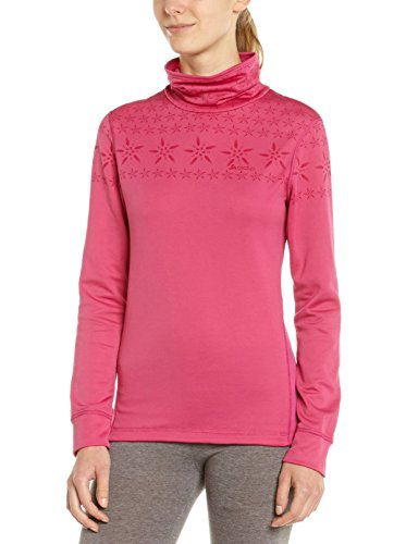 Odlo Originals Warm T-Shirt Chaud col Droit Fantaisie Manches Longues Femme Cactus Flower FR : 44 (Taille Fabricant : XL)